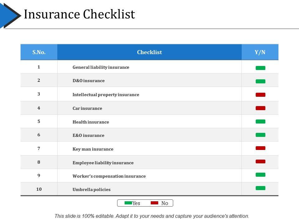 insurance_checklist_ppt_example_Slide01