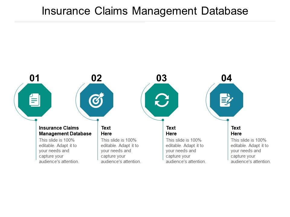 Insurance Claims Management Database Ppt Powerpoint Presentation Infographic Template Cpb