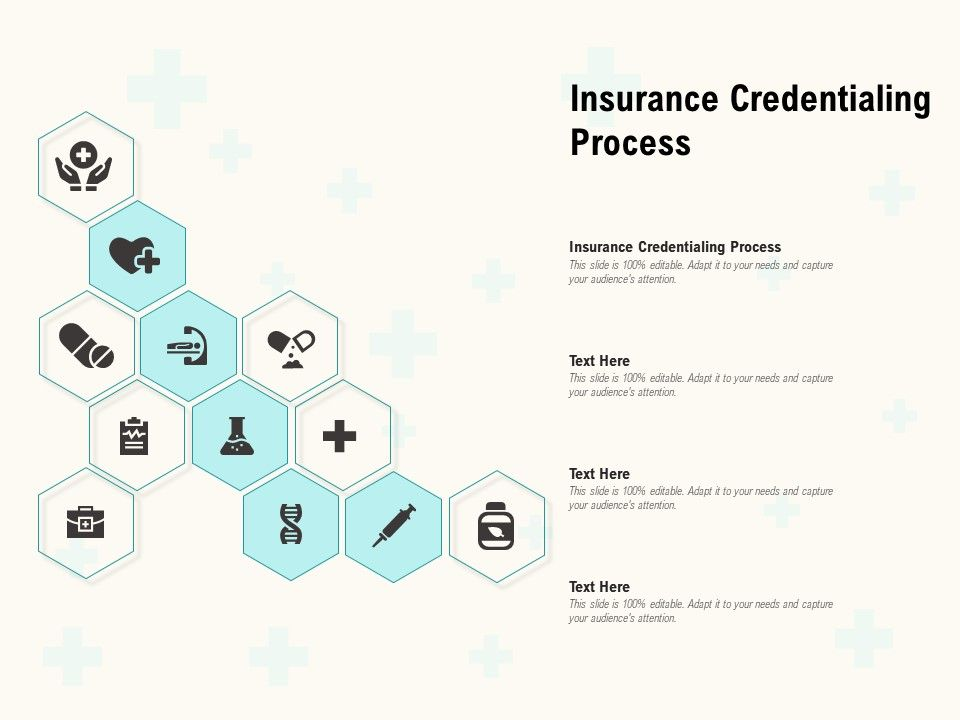 Insurance Credentialing Process Ppt Powerpoint Presentation Professional Graphics Tutorials