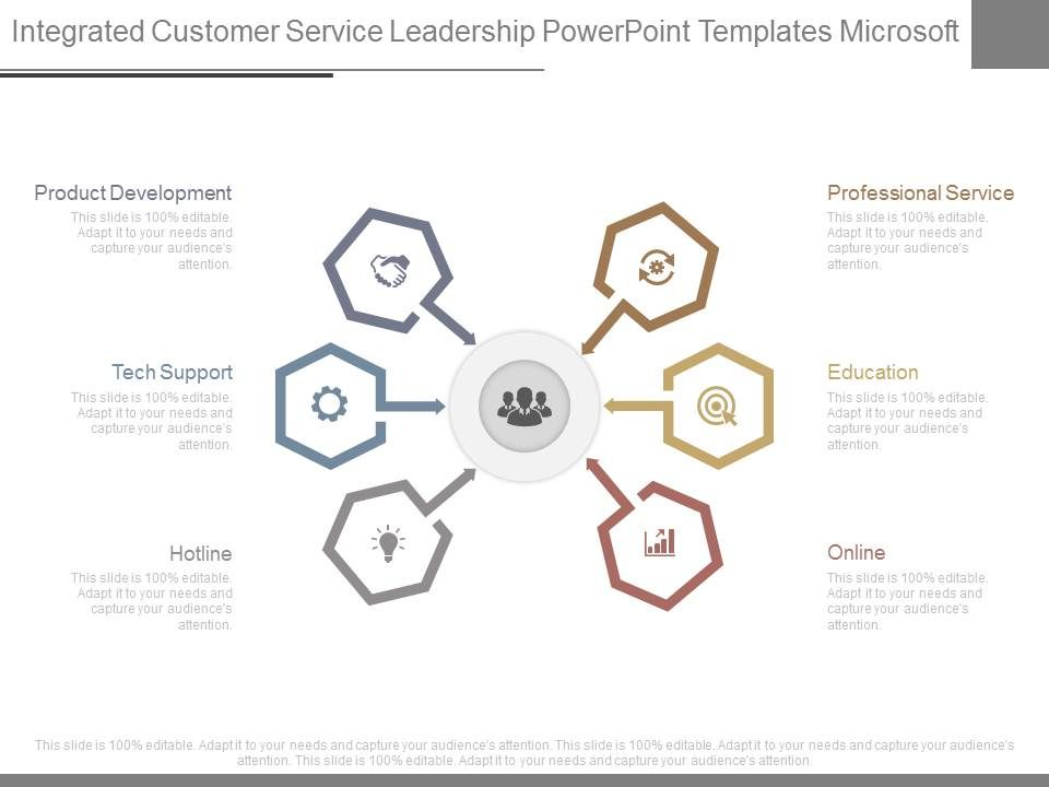 Integrated Customer Service Leadership Powerpoint Templates
