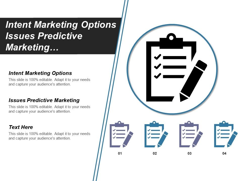 Intent Marketing Options Issues Predictive Marketing