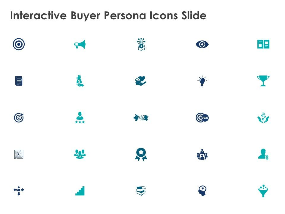 Interactive Buyer Persona Icons Slide Mind Map Poerpoint ...