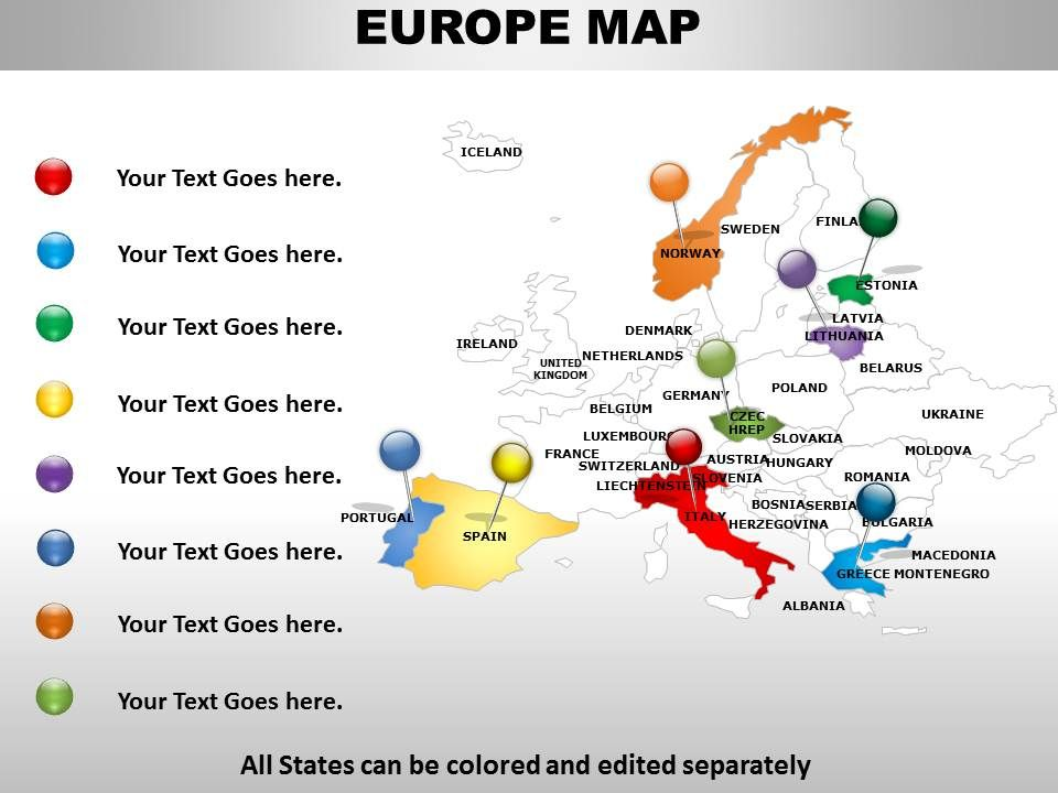 Interactive Map Of Europe 1114 | PowerPoint Templates Download | PPT ...