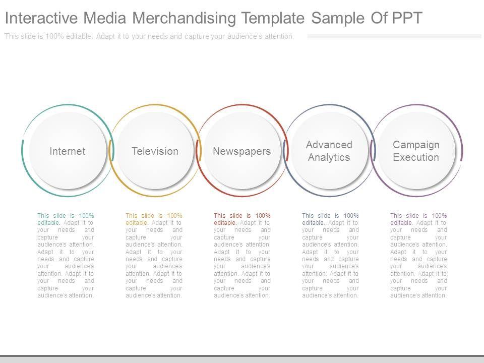 Interactive Media Merchandising Template Sample Of Ppt Powerpoint