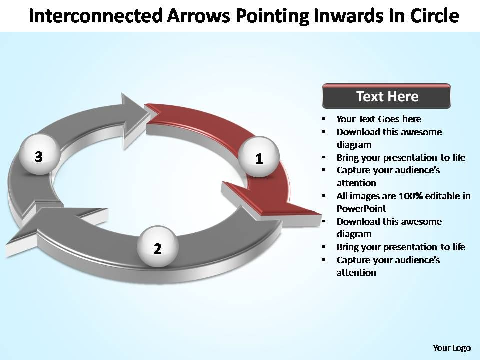 interconnected_arrows_pointing_inwards_in_circle_powerpoint_templates_Slide02
