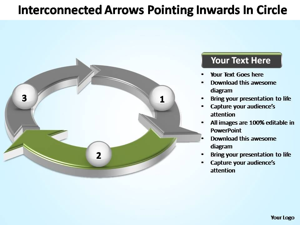 interconnected_arrows_pointing_inwards_in_circle_powerpoint_templates_Slide03
