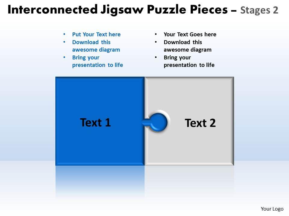 39453973 style division pie-puzzle 2 piece powerpoint template, Presentation templates