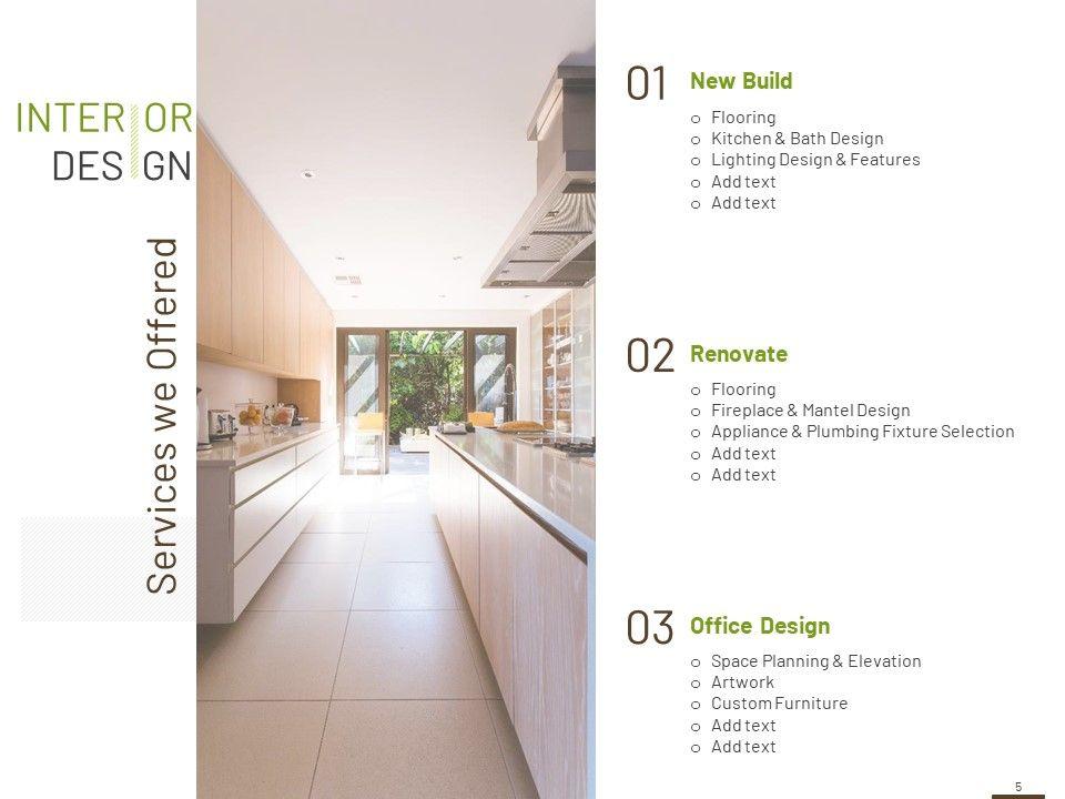 interior design schedule of work template powerpoint