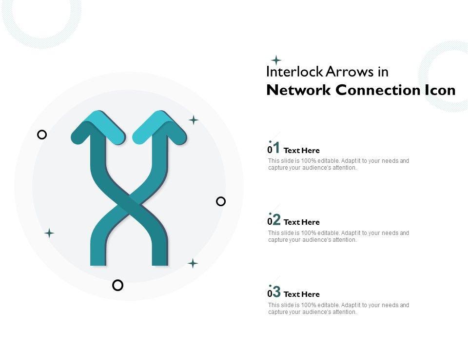 Interlock Arrows In Network Connection Icon