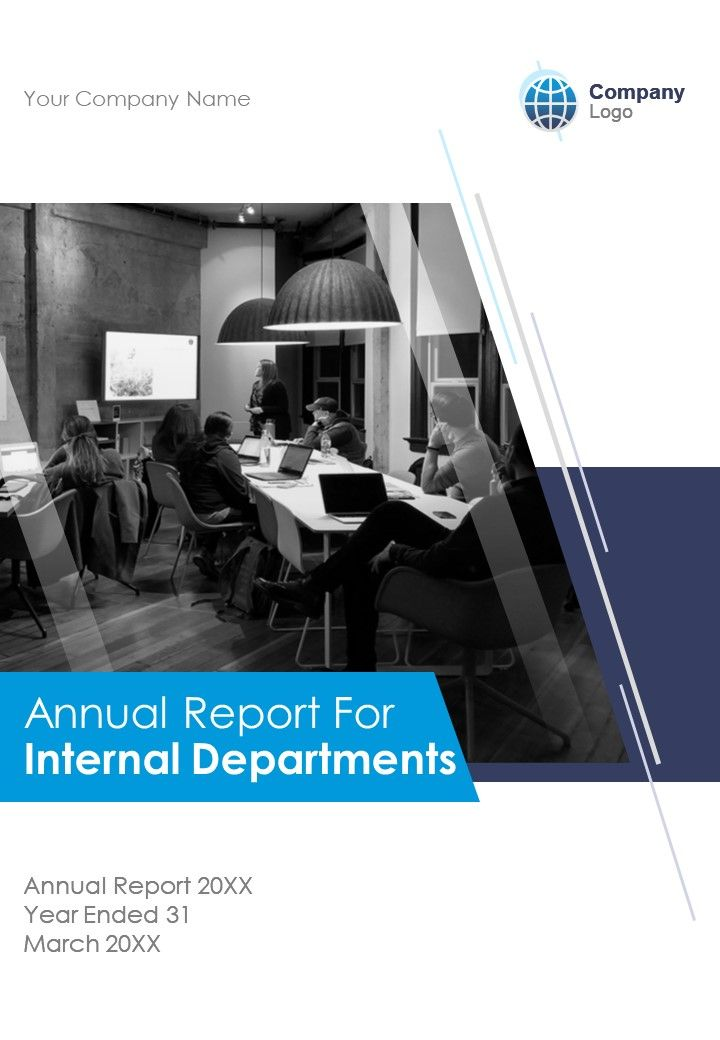 Internal Departments Annual Report PDF DOC PPT Document Report Template