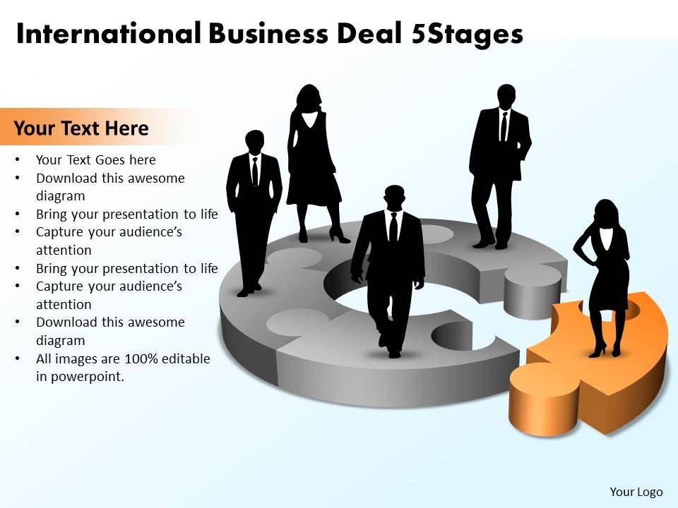 international business deal 5 stages powerpoint templates ppt