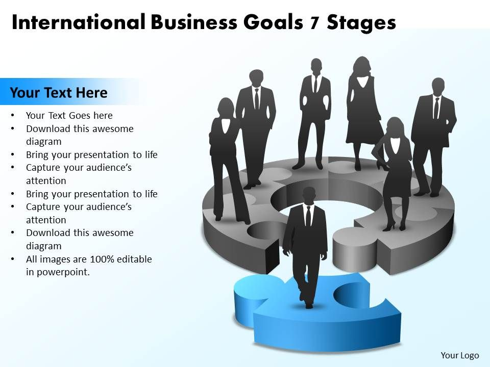 international business goals 7 stages powerpoint templates ppt