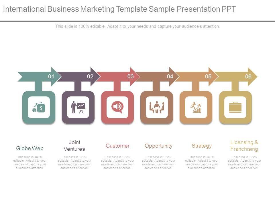 international business marketing template sample presentation ppt