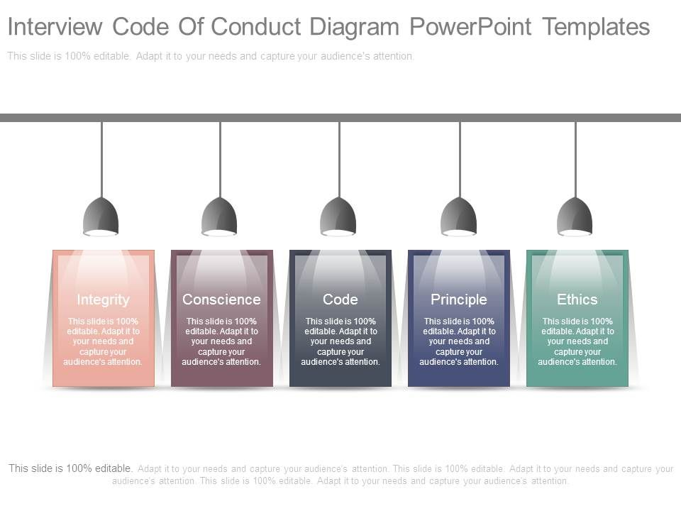 Interview Code Of Conduct Diagram Powerpoint Templates | PowerPoint ...