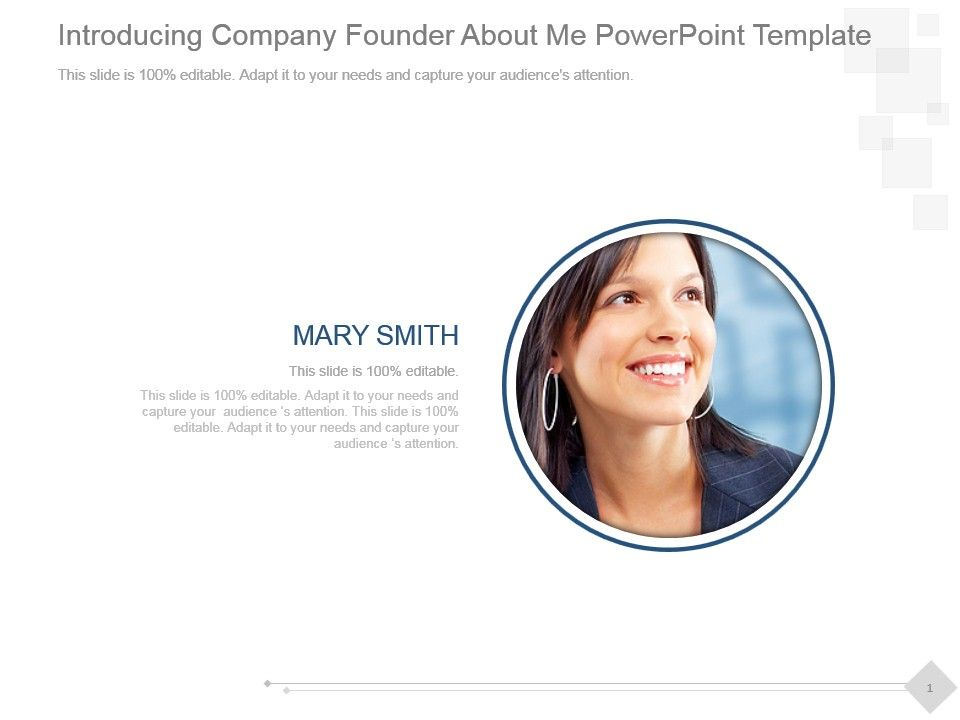 introducing company founder about me powerpoint template