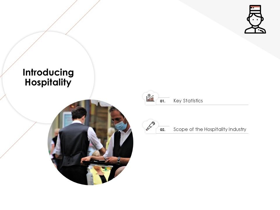 Introducing Hospitality Hotel Management Industry Ppt Icons