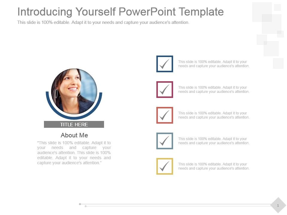 introducing yourself powerpoint template powerpoint slide