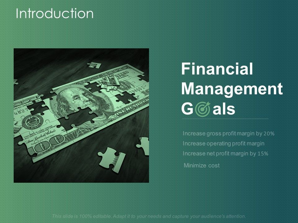 Introduction Financial Management Goals Ppt Powerpoint Presentation Layouts Demonstration