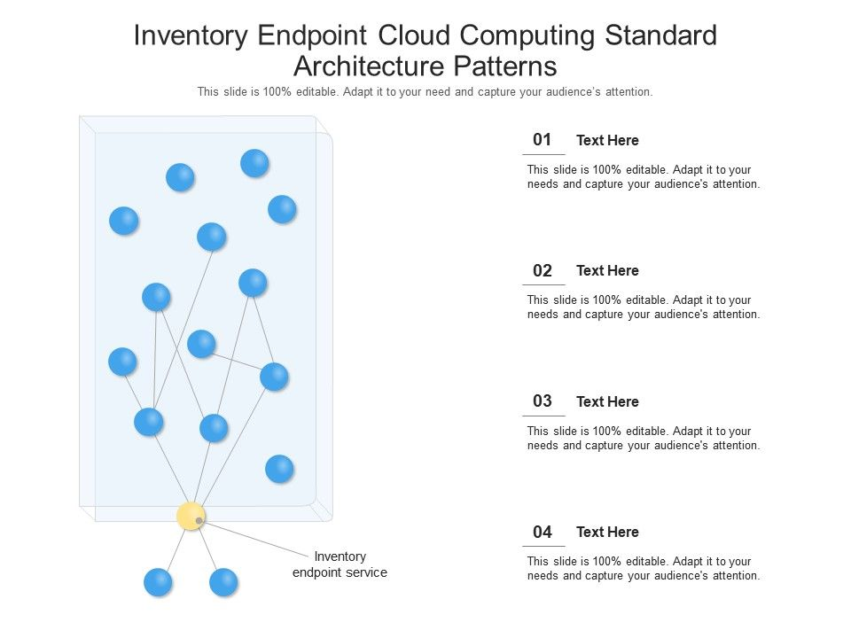Inventory Endpoint cloud Computing Standard Architecture Patterns Ppt Presentation Diagram