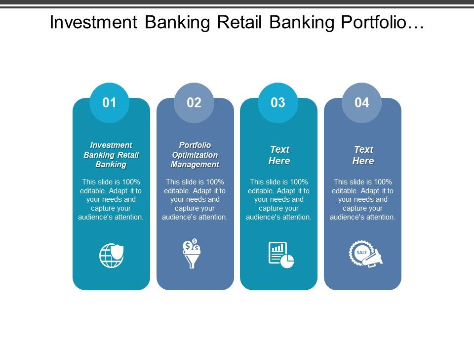 Investment Banking Retail Banking Portfolio Optimization Management