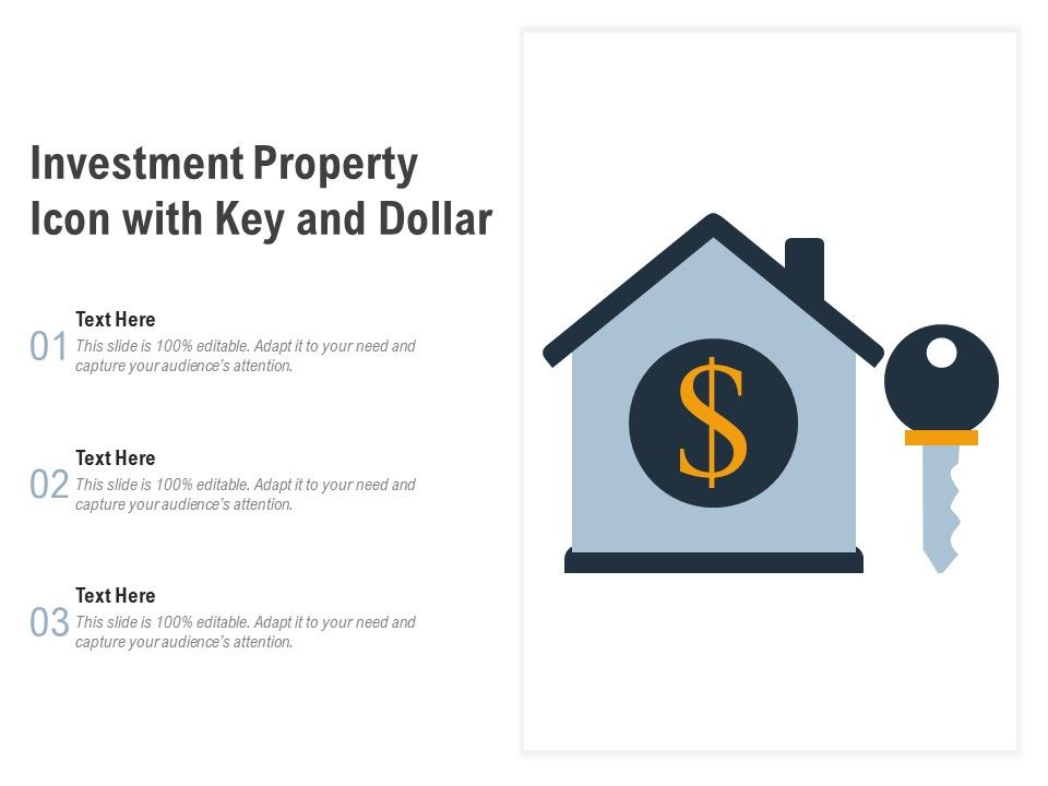 Investment Property Icon With Key And Dollar