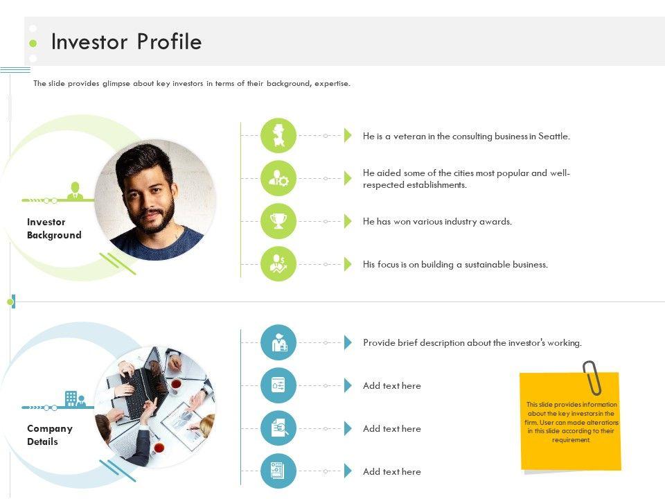 Investor Profile Firm Guidebook Ppt Sample