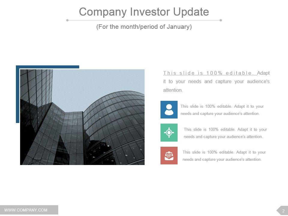 investor update newsletter powerpoint presentation slides, Modern powerpoint