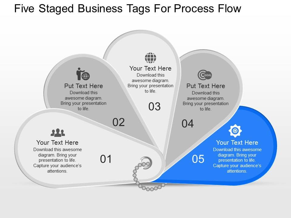 iq Five Sequential Tags And Icons For Process Flow Powerpoint Template – Iq Chart Template