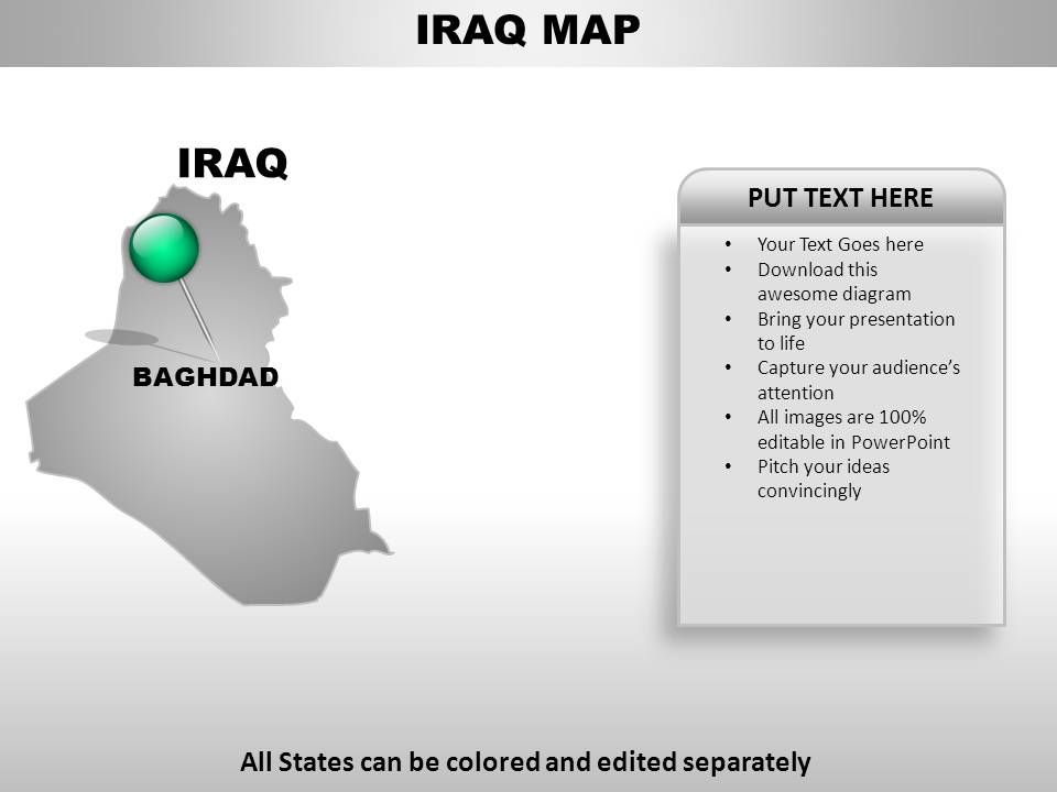 Iraq Country PowerPoint Maps | PowerPoint Presentation