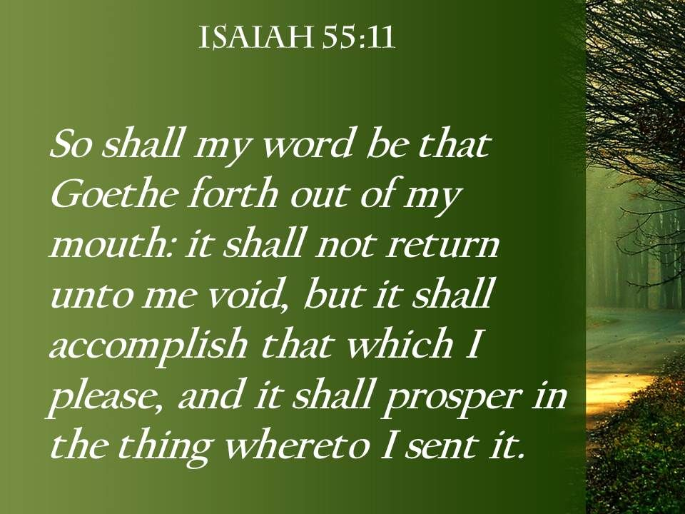 isaiah 55 11 it will not return to me powerpoint church
