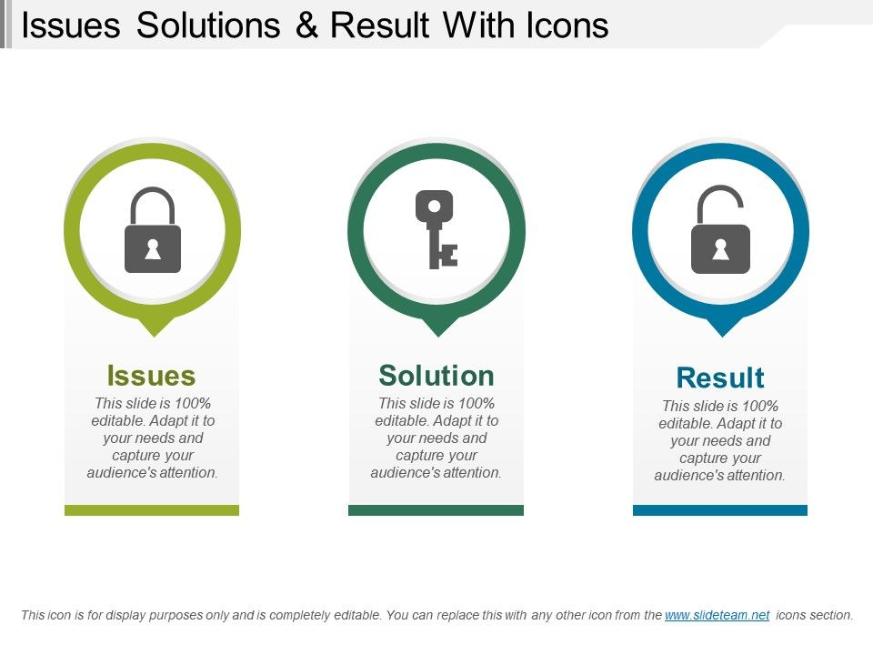 issues_solutions_and_result_with_icons_Slide01