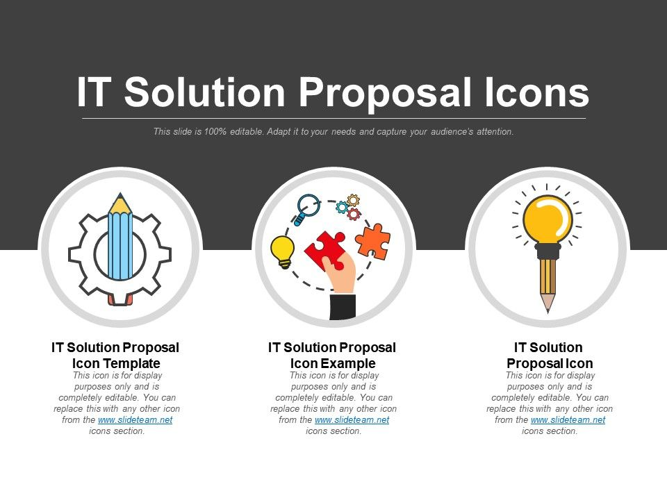 it solution proposal template - it solution proposal icons good ppt example powerpoint