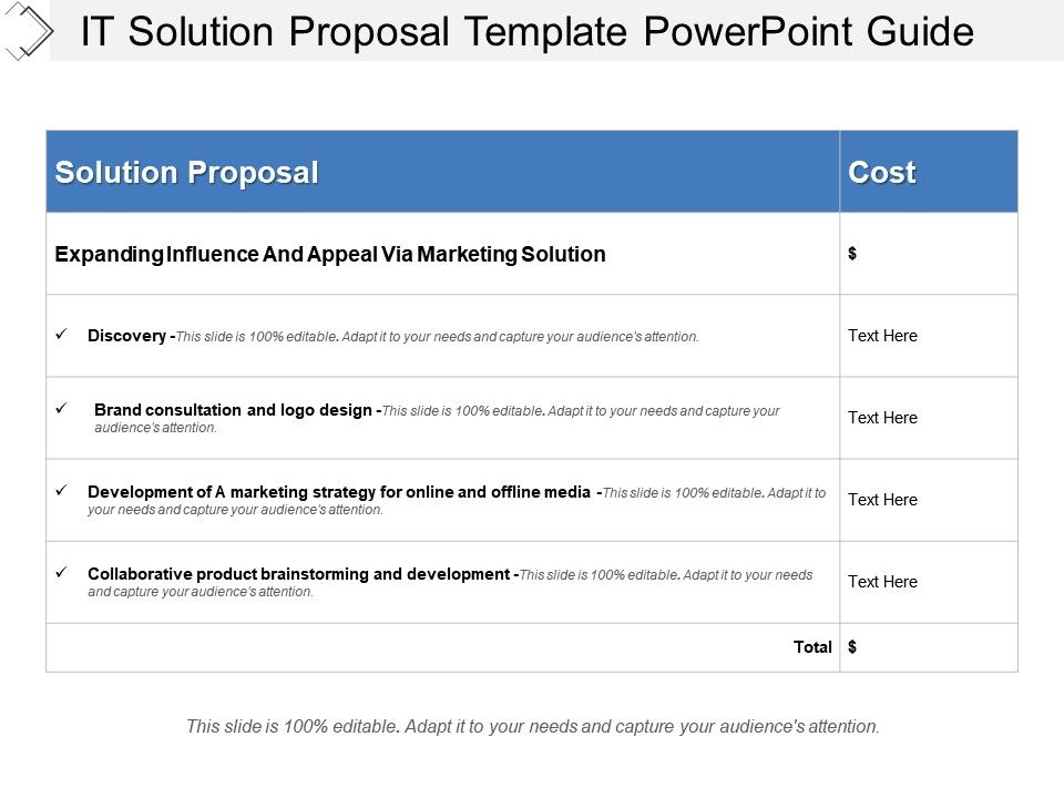 it solution proposal template - it solution proposal template powerpoint guide