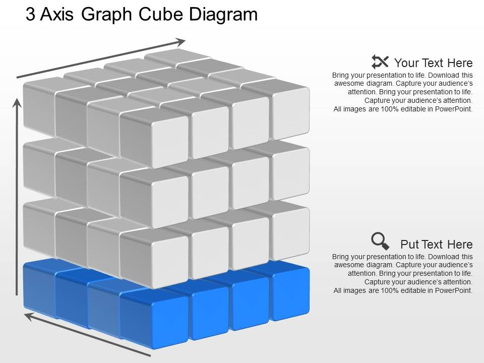 jb 3 Axis Graph Cube Diagram Powerpoint Template | PowerPoint ...