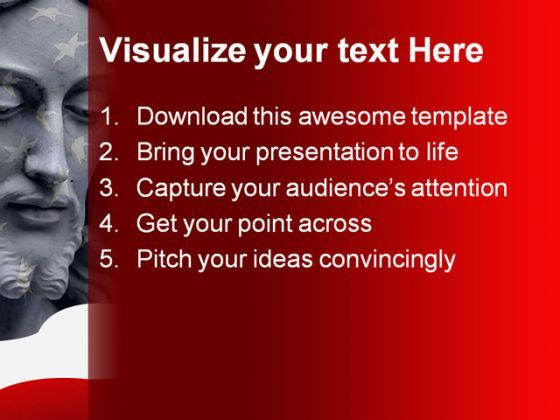 jesus america powerpoint template 0610 powerpoint slide templates
