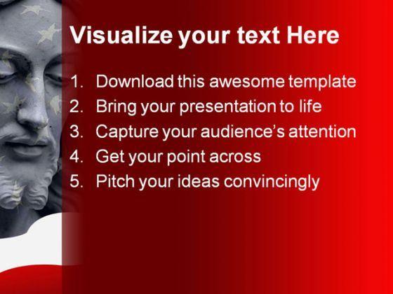 jesus america powerpoint template 0610 powerpoint slide templates