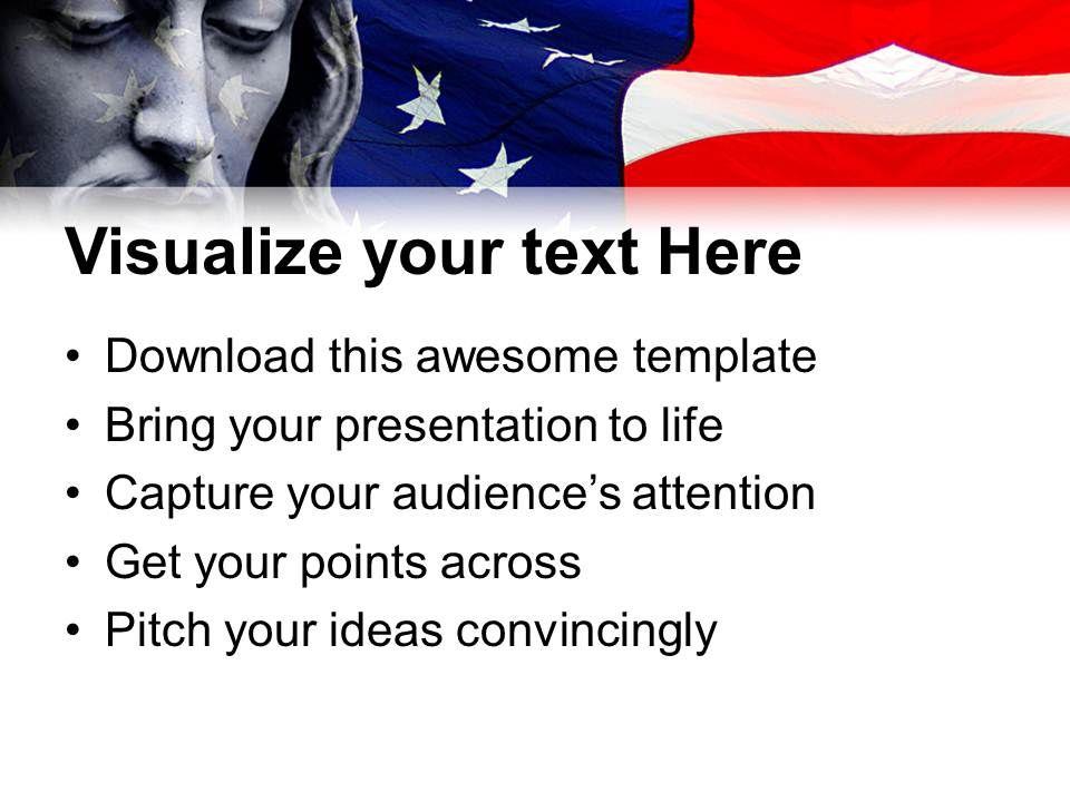 Jesus Christ Cross Powerpoint Templates Usa Americana Diagram Ppt