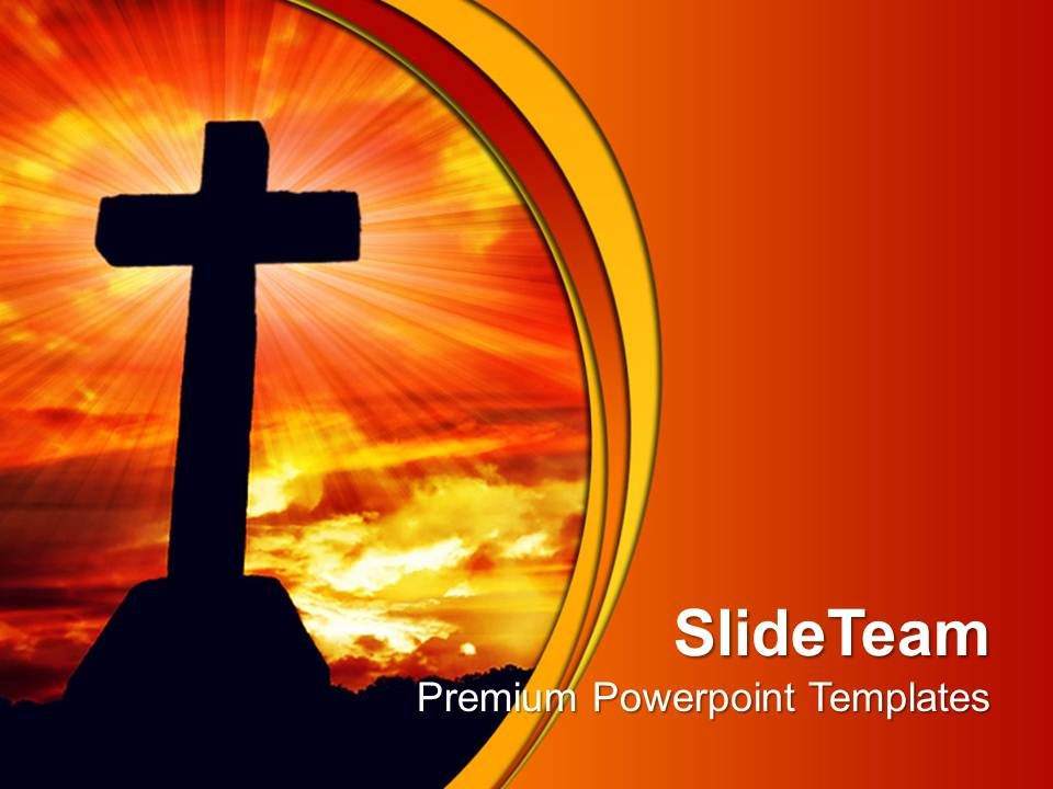 Jesus Christ God Powerpoint Templates Cross Religion Leadership