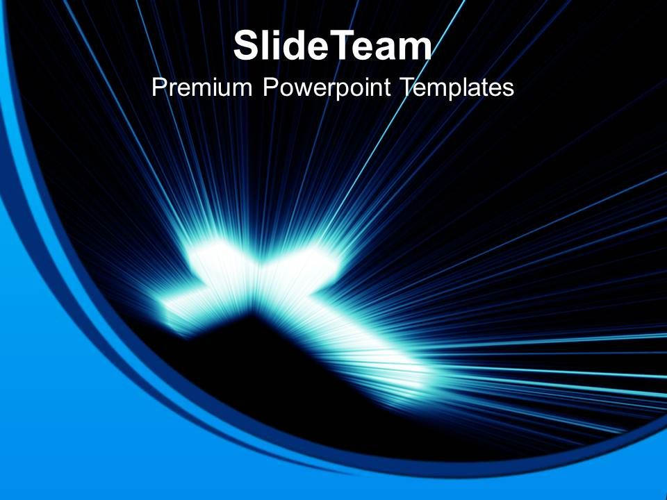 jesus_loves_me_powerpoint_templates_cross_blue_lights_christmas_teamwork_ppt_theme_slide01