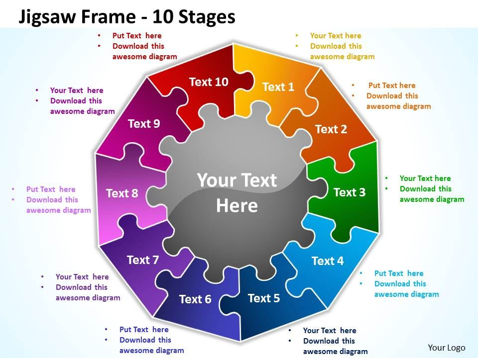 jigsaw_frame_10_stages_powerpoint_templates_graphics_slides_0712_Slide01