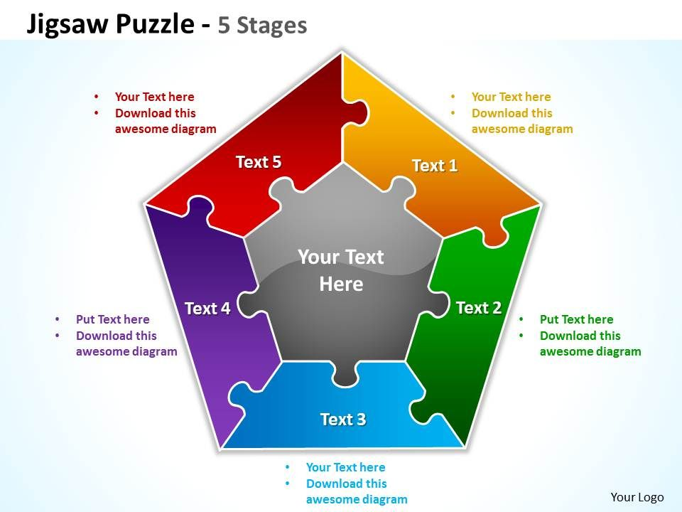 Jigsaw Puzzle Stages Powerpoint Templates Graphics Slides - Jigsaw graphic for powerpoint