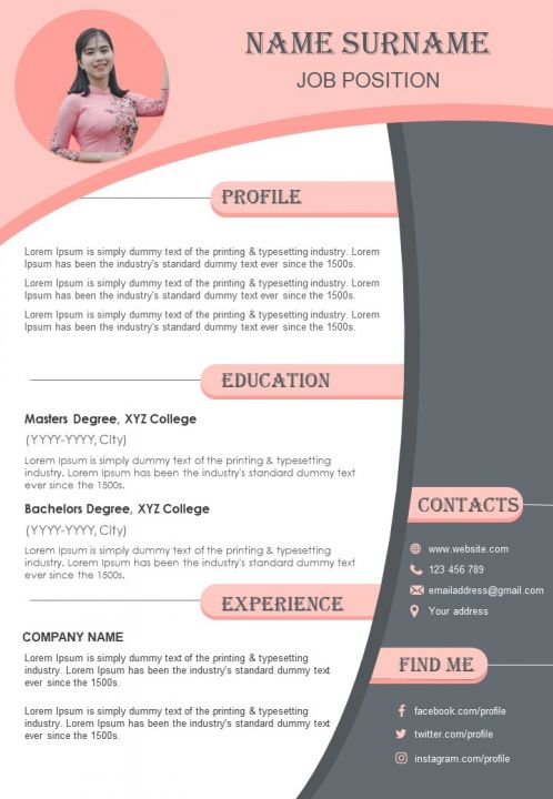 Job CV Sample Format With Achievements And Abilities