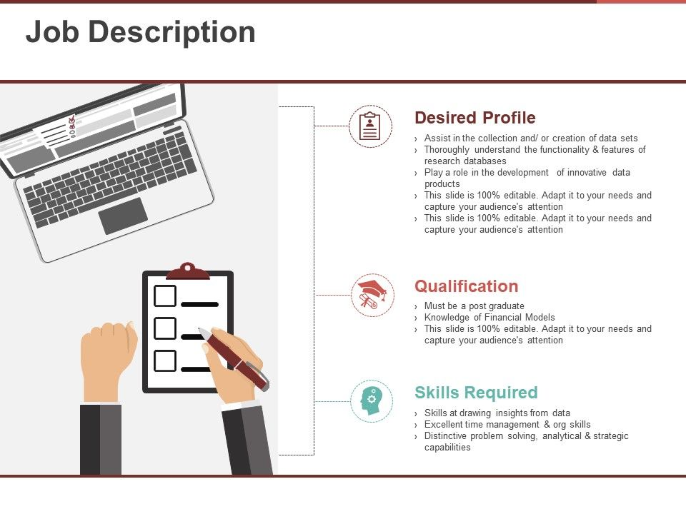 Job Description Ppt Templates Powerpoint Shapes