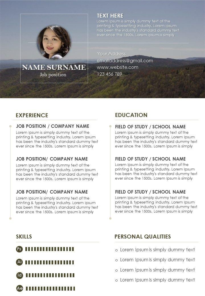 Job Winning Curriculum Vitae Format Editable Resume Template