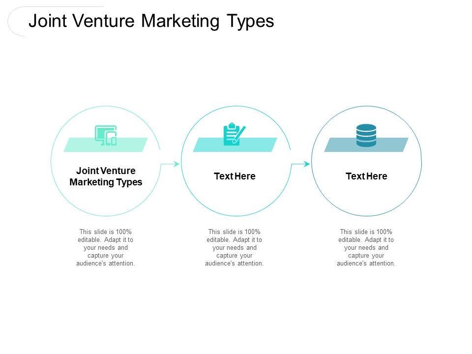 Joint Venture Marketing Types Ppt Powerpoint Presentation Outline Smartart Cpb