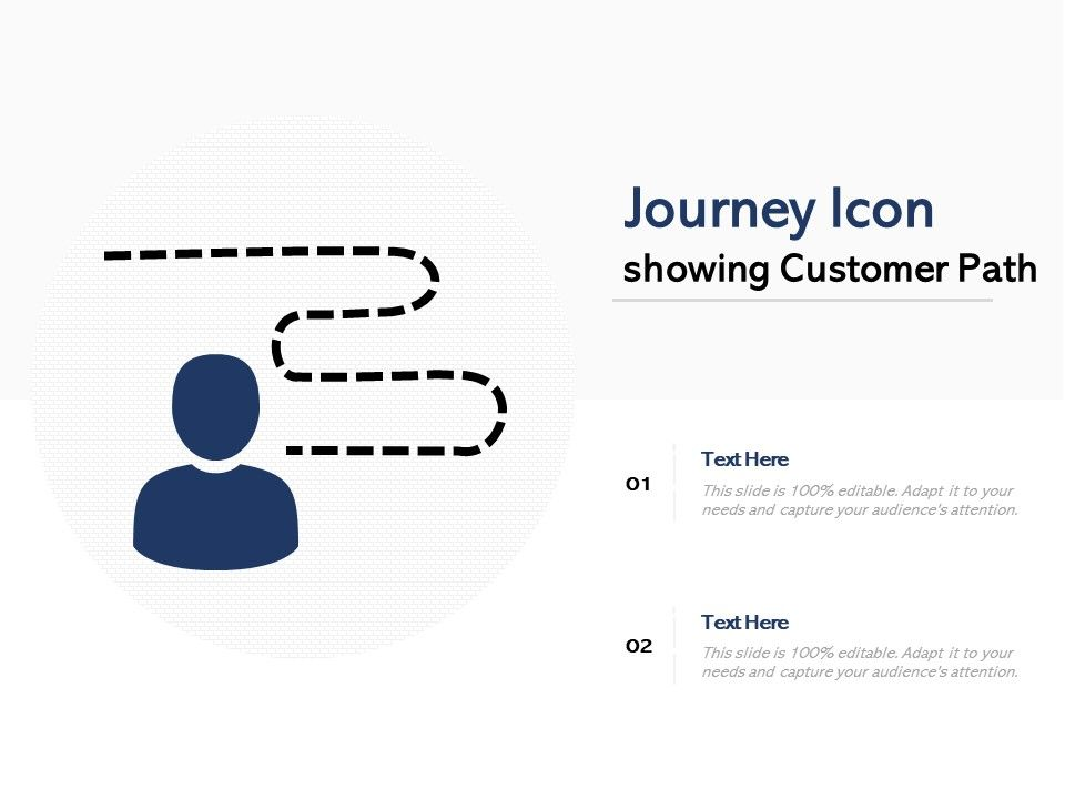 Journey Icon Showing Customer Path