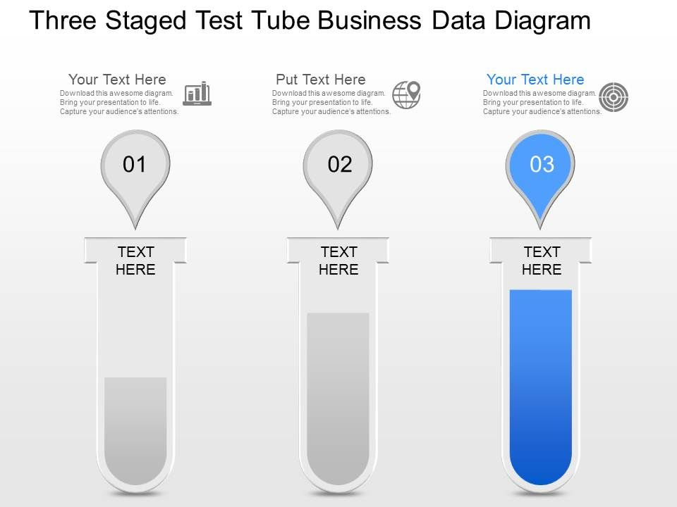 Js Three Staged Test Tube Business Data Diagram Powerpoint Template Powerpoint Presentation Designs Slide Ppt Graphics Presentation Template Designs