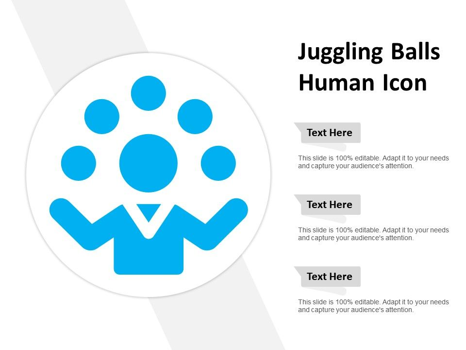 Juggling Balls Human Icon Powerpoint Slide Templates Download Ppt Background Template Presentation Slides Images Free human resources diagrams for powerpoint. juggling balls human icon powerpoint