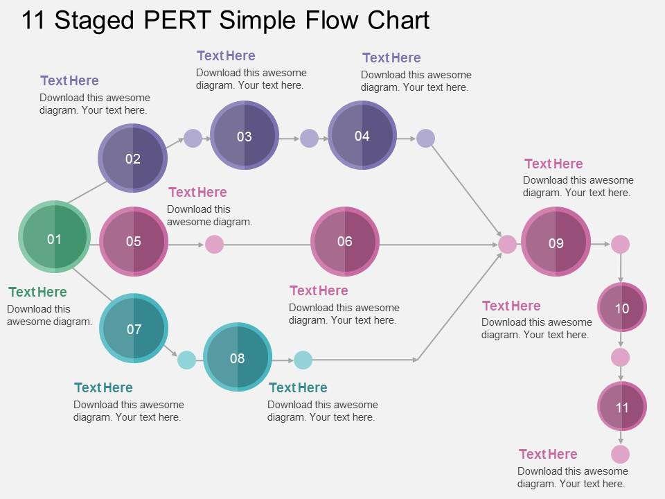 ka_11_staged_pert_simple_flow_chart_flat_powerpoint_design_Slide01