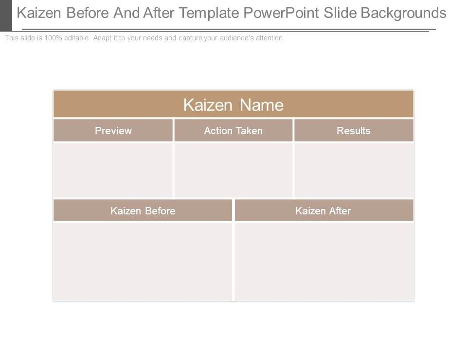 kaizen before and after template powerpoint slide backgrounds, Powerpoint templates